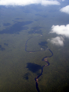 The River Carrao.  We took a canoe for five hours up this river - Canaima, Venezuela ... September 29, 2005 ... Photo by Rob Page III