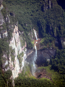 A waterfall near Angel Falls - Canaima, Venezuela ... September 29, 2005 ... Photo by Rob Page III