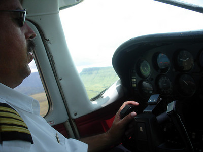 Our pilot Jose flying the bush plane - Canaima, Venezuela ... September 29, 2005 ... Photo by Rob Page III