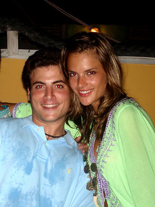 Pedro with Victoria Secret Supermodel Alessandra Ambrosio - Los Roques ... October 1, 2005 ... Photo by Rob Page III