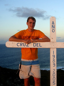 Rob and the Cross - Los Roques, Venezuela ... September 30, 2005 ... Photo by Pedro Mendoza