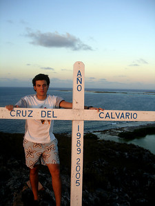 Pedro and the cross - Los Roques, Venezuela ... September 30, 2005 ... Photo by Rob Page III