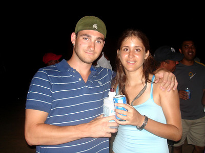 John drinking with his nurse - Los Roques, Venezuela ... September 30, 2005 ... Photo by Rob Page III