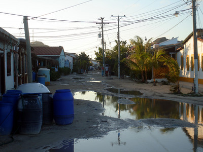 The streets on Gran Roque in the evenign after a rainfall - Los Roques, Venezuela ... September 30, 2005 ... Photo by Rob Page III