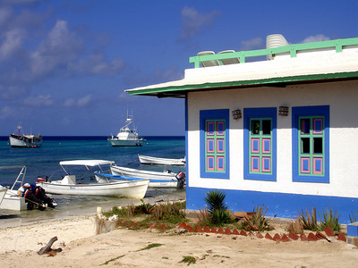 The buildings of Gran Roque - Los Roques, Venezuela ... October 1, 2005 ... Photo by Rob Page III