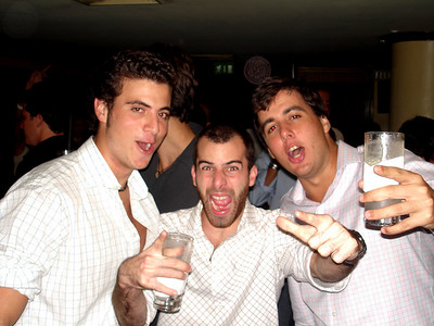 Pedro with his Caracan friends Phelps and Scooby at Club Sabu - Caracas, Venezuela ... September 29, 2005