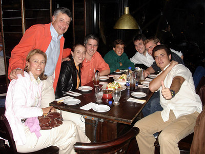 Mrs. & Mr. Mendoza, Anna, Luis, Alberto, John, Rob, and Pedro - Caracas, Venezuela ... September 22, 2005 ... Photo by unknown