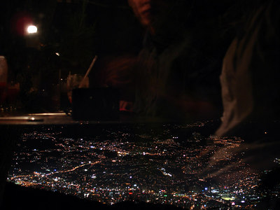 Enjoying fondue while looking down over the city - Caracas, Venezuela ... September 22, 2005 ... Photo by Rob Page III