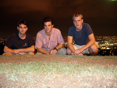 John, Pedro, and Rob looking over Caracas - Caracas, Venezuela ... September 21, 2005 ... Photo by Rob Page III