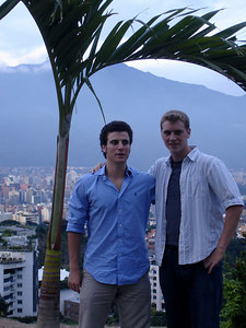 Pedro and Rob - Caracas, Venezuela ... September 22, 2005 ... Photo by John Reardon