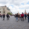 Entering Red Square in Moscow.