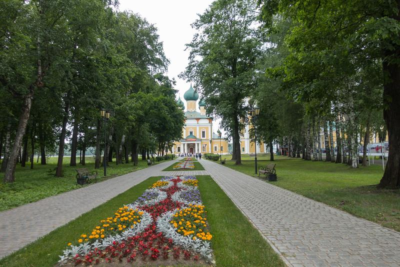 Church entrance in Uglich, Russia.