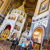Inside the Cathedral of Christ the Savior in Moscow.