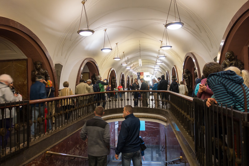 The Moscow Subway.