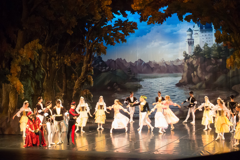 Performance of Swan Lake at the Bolshoi Ballet Theatre.