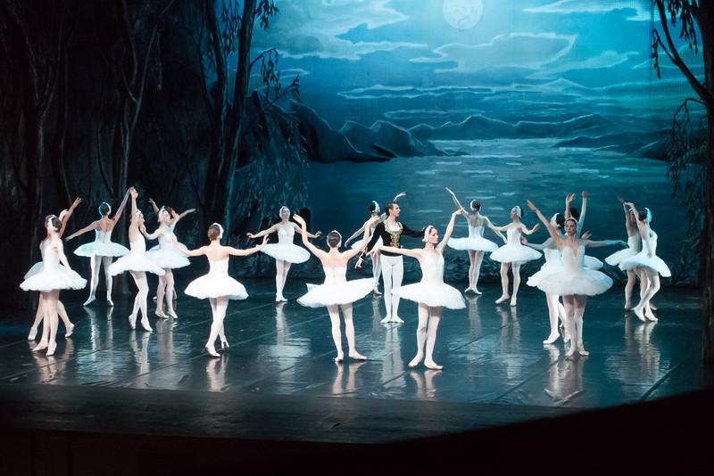 Performance of Swan Lake at the Bolshoi Ballet Theatre.