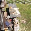 Kizhi Island craftsman carving wood.