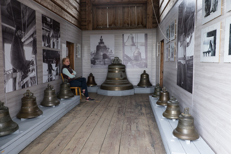 Store room of bells used by the church on Kizhi Island.
