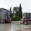 Park statues in Yaroslavl, Russia.