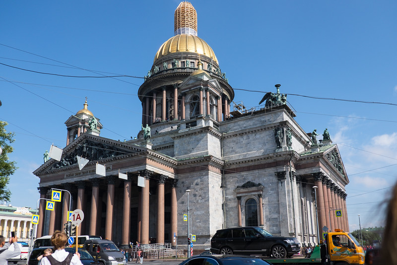 Saint Isaac's Cathedral in Saint Petersburg, Russia.