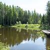 Small lake on Mandrogy Island, Russia.