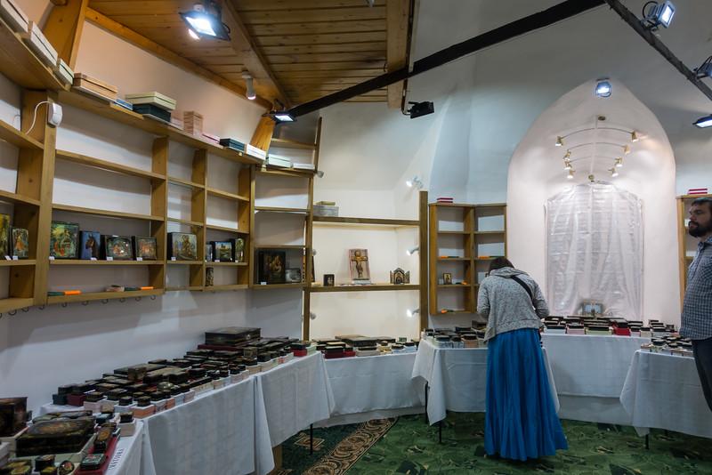 Lacquer box showroom in Uglich.