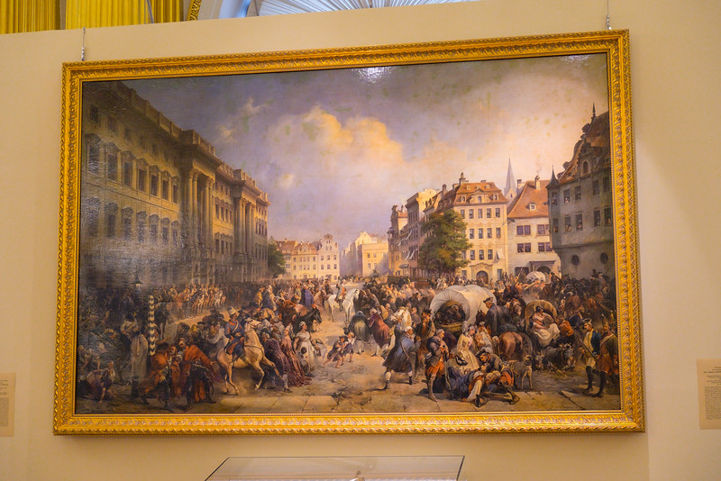 Art works on display in the Hermitage Museum.