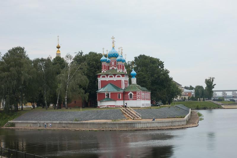Waterfront church in Uglich, Russia