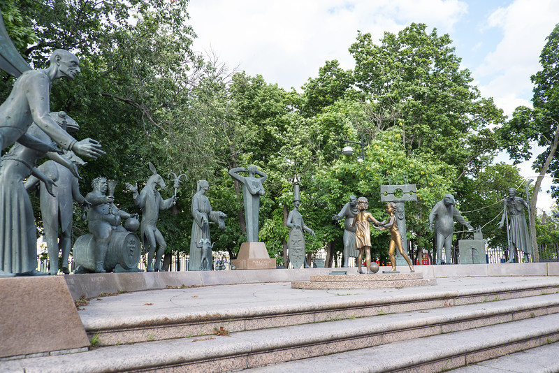 Bolotnaya Square Park in Moscow.