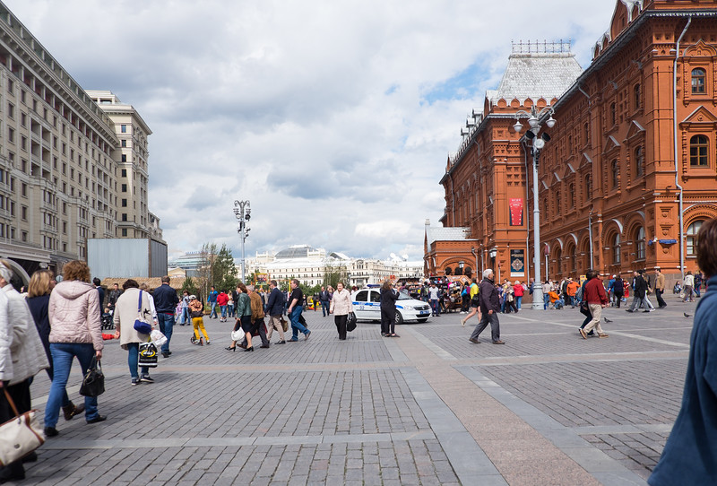Large courtyard area outside Red Square.