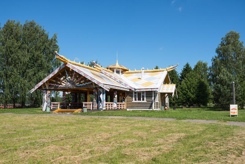 Resturant on Mandrogy Island, Russia.