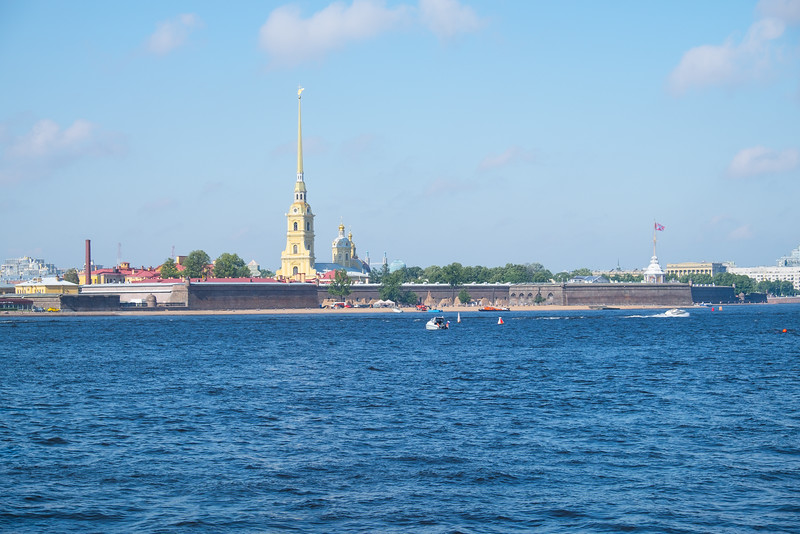 Saint Petersburg's sights from the water.