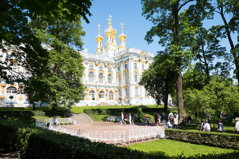 The grounds at Catherine Palace in Saint Petersburg, Russia.