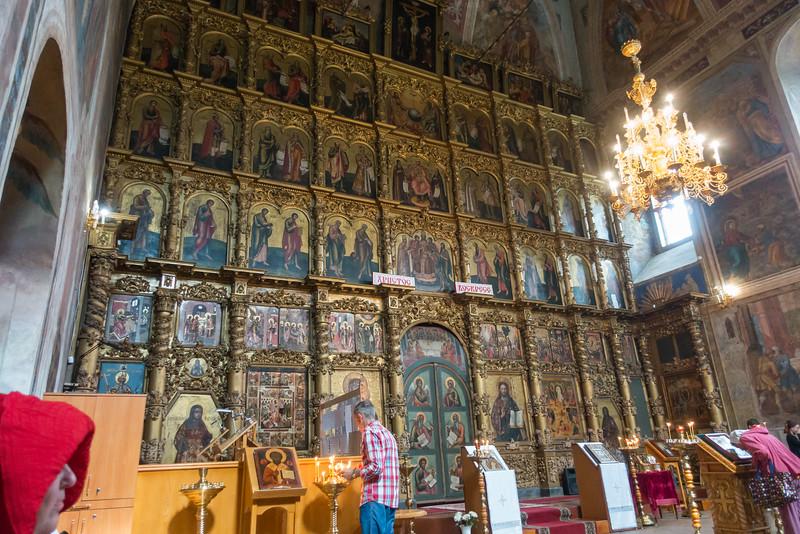 Inside a church in Uglich, Russia.
