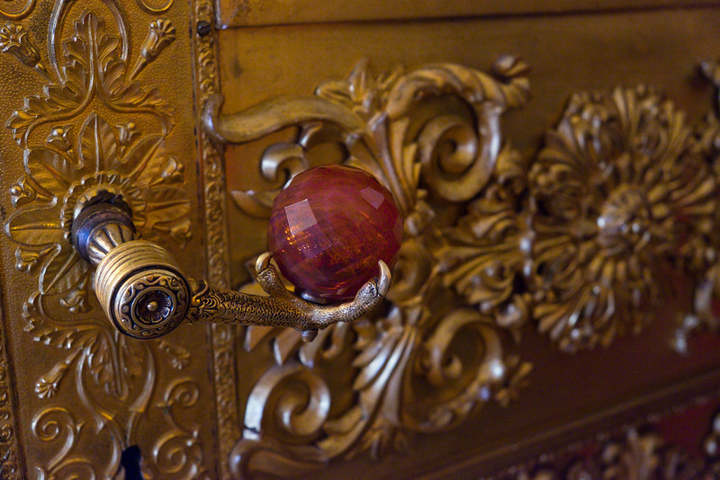 Door knob on display at the Hermitage Museum, Saint Petersburg.