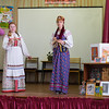 Students do an artistic performance in Kuzino.