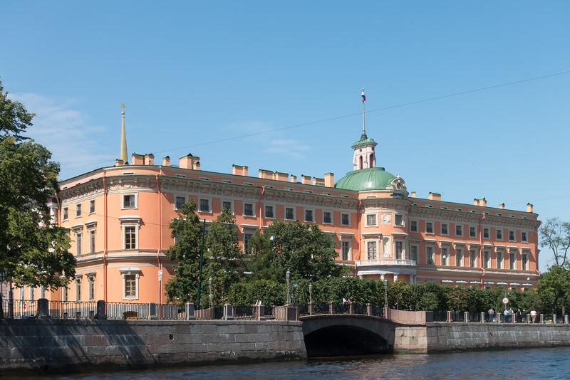 Saint Petersburg from the waterways.