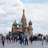 Iconic Moscow's Red Square Cathedral of Vasiy the Blessed.