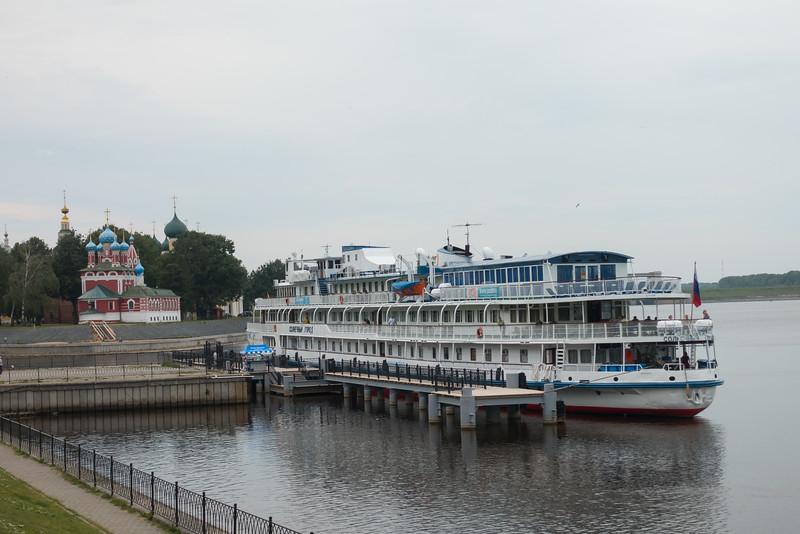 Docking in Uglich, Russia.