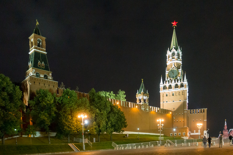 Red Square Moscow at Night.