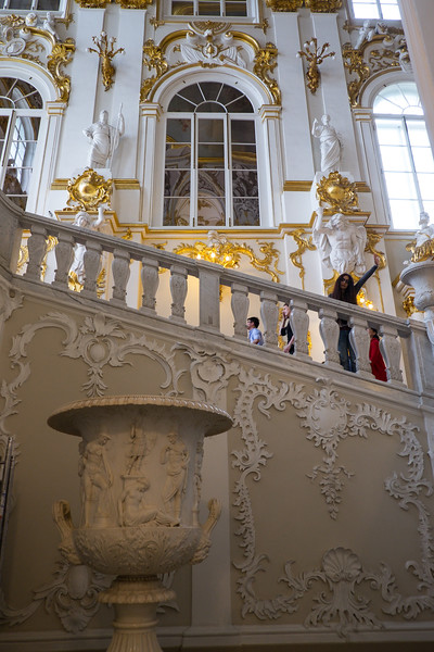 The Hermitage Museum in Saint Petersburg, Russia.