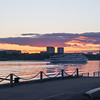 Sunset on the Volga River