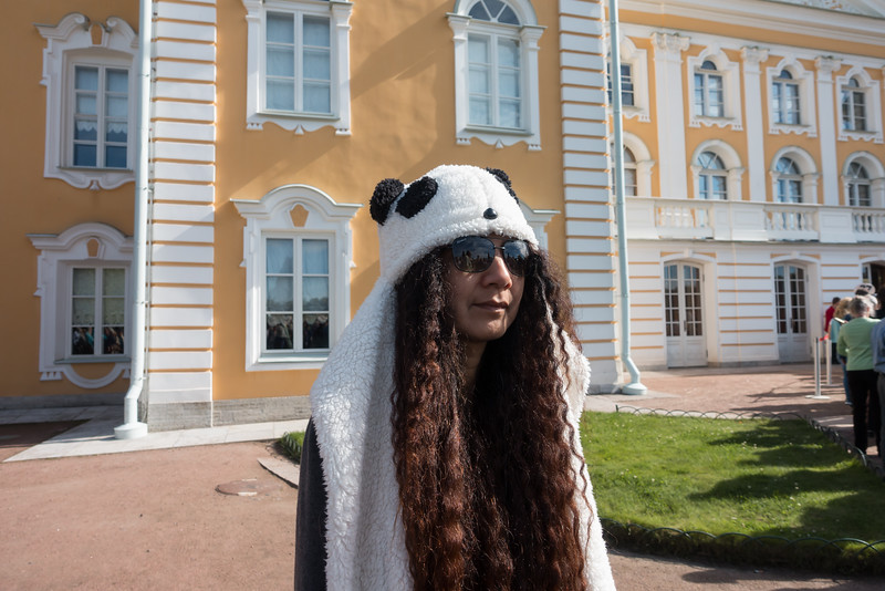 Lost sheep tourist at Peterhof Palace, Park and Grounds