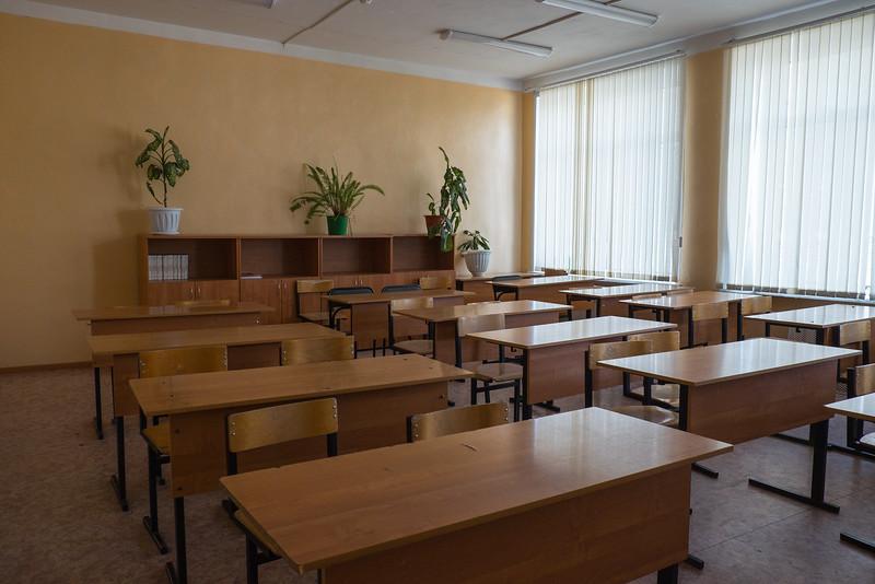 Visit to a school in Kuzino, Russia.