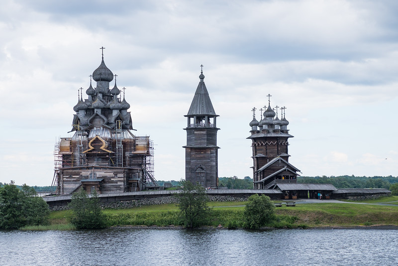 Wooden structures on Kizhi Island, Russia.