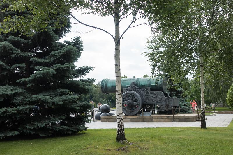 Giant canon on the Kremlin grounds.