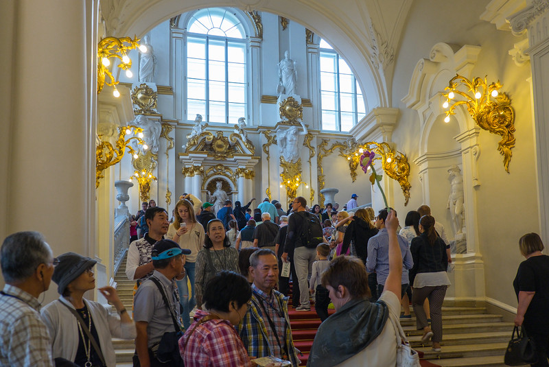 Finally inside the Hermitage Museum.