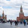 Iconic imagery from Red Square in Moscow.