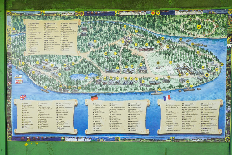 Map of Mandrogy, Russia.