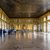 One of the great halls in Catherine Palace, Saint Petersburg, Russia.